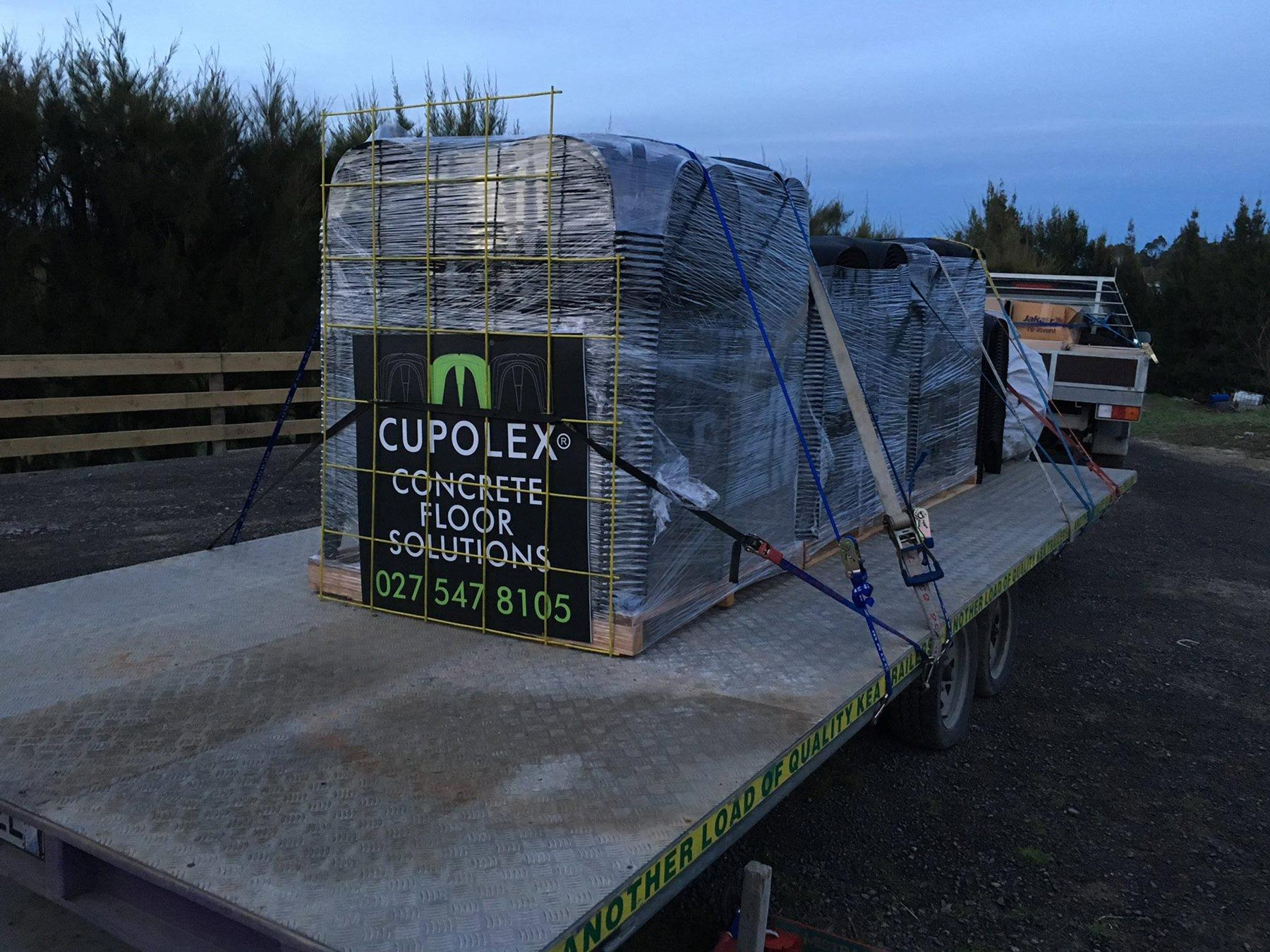 cupolex product on trailer